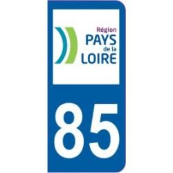 Sticker immatriculation 85 - Vendée