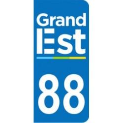 Sticker immatriculation 88 - Grand-Est