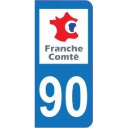 Sticker immatriculation 90 - Territoire de Belfort