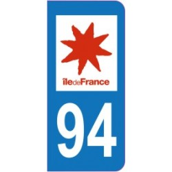 Sticker immatriculation 94 - Val de Marne