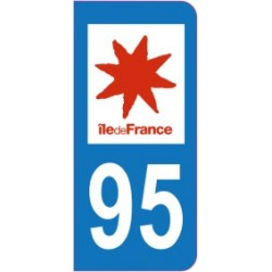 Sticker immatriculation 95 - Val d'Oise