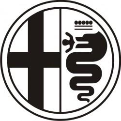 Sticker Alfa Roméo rond - Taille et Coloris au choix