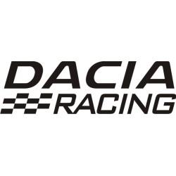 Sticker Dacia Racing - Taille et Coloris au choix