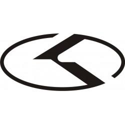 Sticker Kia Logo - Taille et Coloris au choix