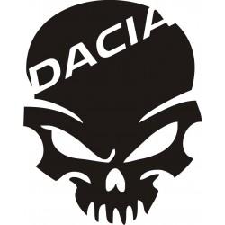 Sticker Dacia Crâne - Taille et Coloris au choix