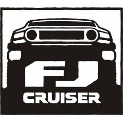 Sticker Toyota Fj Cruiser  - Taille et Coloris au choix