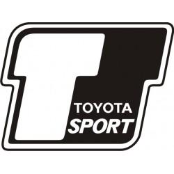 Sticker Toyota Sport - Taille et Coloris au choix