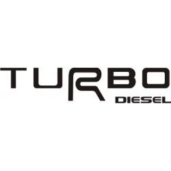 Autocollant Turbo Diesel - Taille et Coloris au choix
