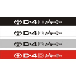 Bandeau pare soleil Toyota D4D All Wheel Drive - 130 cm x 15 cm