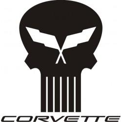 Sticker Corvette 1 - Taille et Coloris au choix
