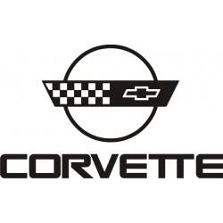 Sticker Corvette 3 - Taille et Coloris au choix
