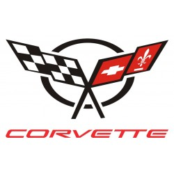 Sticker Corvette logo - Taille au choix