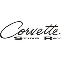 Sticker Corvette Sting Ray - Taille et Coloris au choix