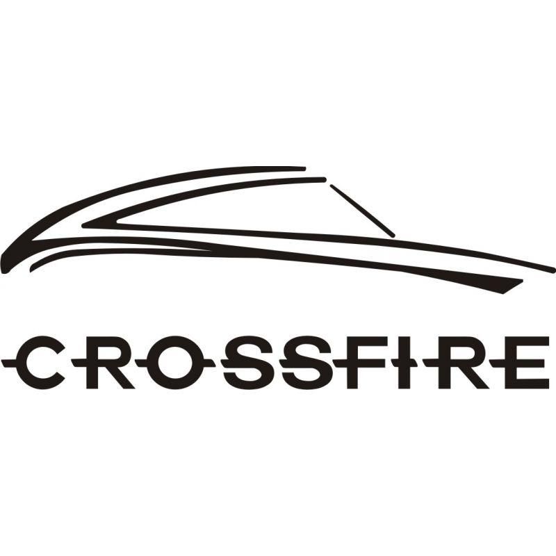 Sticker Chrysler Crossfire 1 - Taille et Coloris au choix