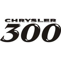 Sticker Chrysler 300C 2 - Taille et Coloris au choix