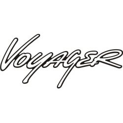 Sticker Chrysler Voyager 1 - Taille et Coloris au choix