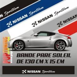 Bandeau pare soleil Nissan Sport Team