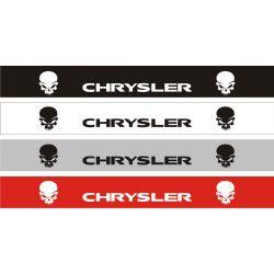 Bandeau pare soleil Chrysler Crâne - 130 cm x 15 cm