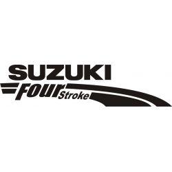 Sticker Suzuki Four Stroke - Taille et Coloris au choix