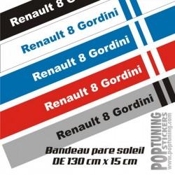 Bandeau pare soleil Renault 8 Gordini 2