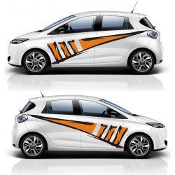 Kit 2 stickers autocollants - Décoration auto 2 côtés - modèle 0001