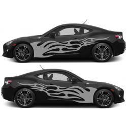 Kit 2 stickers autocollants - Décoration auto 2 côtés - modèle 0003