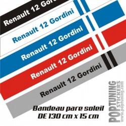 Bandeau pare soleil Renault 12 Gordini 2