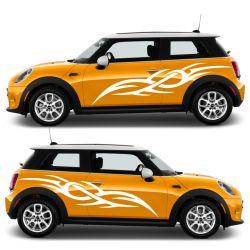 Kit 2 stickers autocollants - Décoration auto 2 côtés - modèle 0006