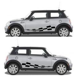 Kit 2 stickers autocollants - Décoration auto 2 côtés - modèle 0007