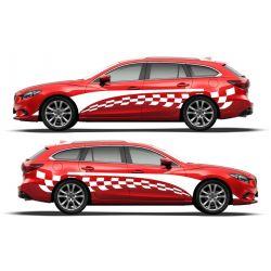 Kit 2 stickers autocollants - Décoration auto 2 côtés - modèle 0009