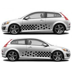 Kit 2 stickers autocollants - Décoration auto 2 côtés - modèle 0010