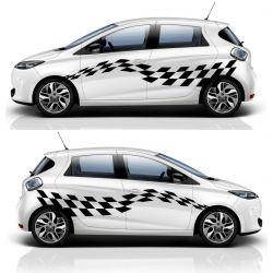 Kit 2 stickers autocollants - Décoration auto 2 côtés - modèle 0011