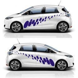 Kit 2 stickers autocollants - Décoration auto 2 côtés - modèle 0014