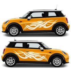 Kit 2 stickers autocollants - Décoration auto 2 côtés - modèle 0015