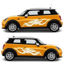 Kit 2 stickers autocollants - Décoration auto 2 côtés - modèle 0018