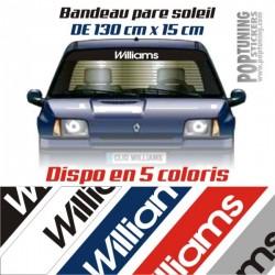 Bandeau pare soleil Renault Williams 2