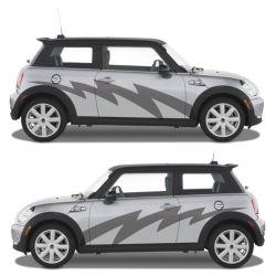 Stickers lateraux voiture - Décoration 2 côtés - modèle 0046