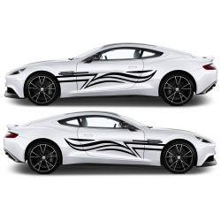 Stickers lateraux voiture - Décoration 2 côtés - modèle 0049