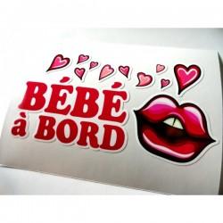 Sticker bébé à bord - Plein de bisous d'amour