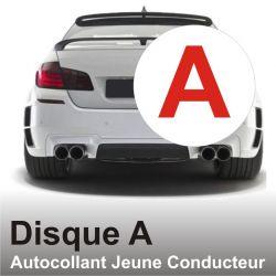 Disque A - Autocollant Jeune Conducteur