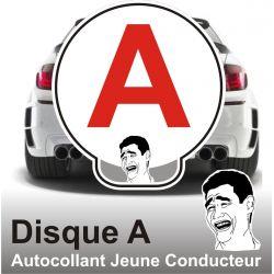 Disque A personnalisé - Autocollant Jeune Conducteur Have Fun !