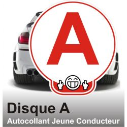 Disque A personnalisé - Autocollant Jeune Conducteur Fu.k 2