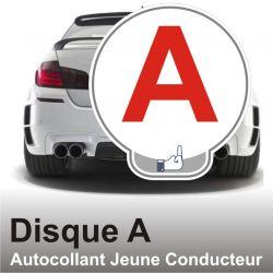 Disque A personnalisé - Autocollant Jeune Conducteur Fu.k 3