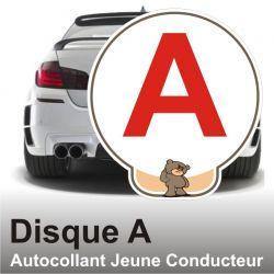 Disque A personnalisé - Autocollant Jeune Conducteur Fu.k 4