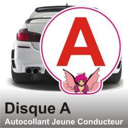 Disque A personnalisé - Autocollant Jeune Conducteur Ange