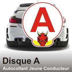 Disque A personnalisé - Autocollant Jeune Conducteur Démon