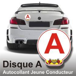Disque A personnalisé - Autocollant Jeune Conducteur Diablotins