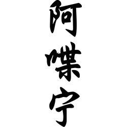 Adrienne - Sticker prénom en Chinois