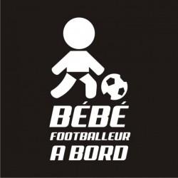 bébé footballeur avec sont ballon interdit à bord - vitre ou carrosserie