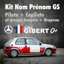 Kit lettrage adhésif nom pilote - copilote - pour véhicule de Rallye